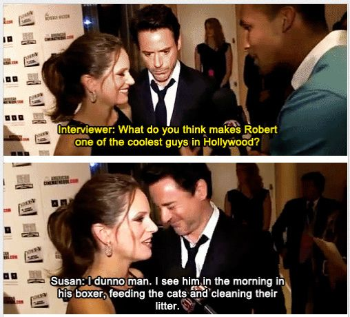 Susan Downey keeps it real.  Love it!