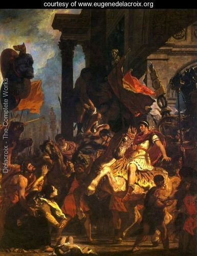 Ideal The Justice of Trajan by Eugene Delacroix Painting analysis large resolution images user ments slideshow and much more