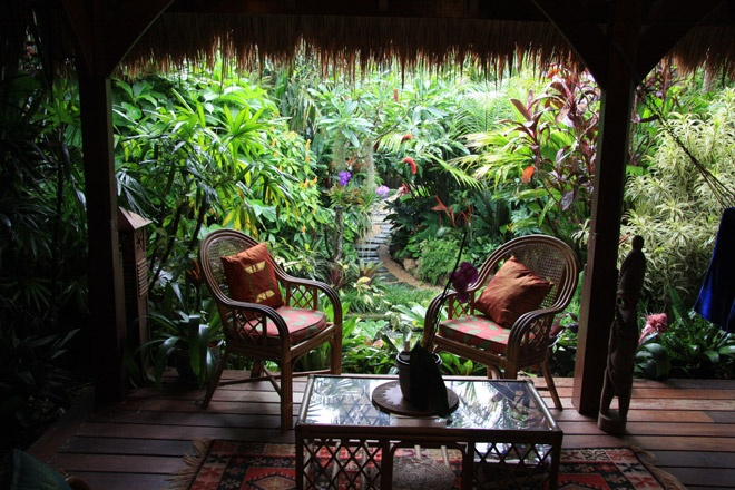 There's a whole slideshow of beautiful pix. Tropical garden by Dennis Hundscheidt. Stunning garden on a 1/4 acre block.