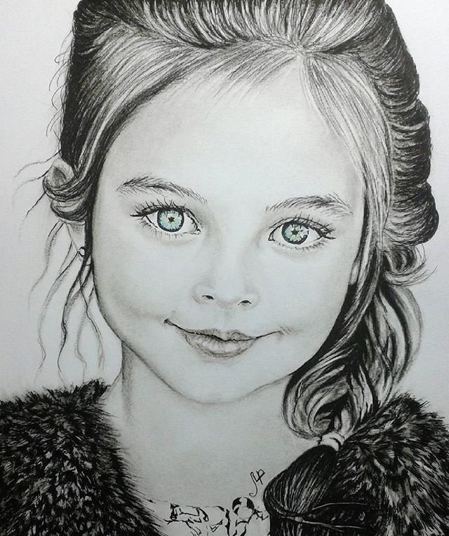 My latest portrait drawing of Anna Pavaga Charcoal pencils on paper