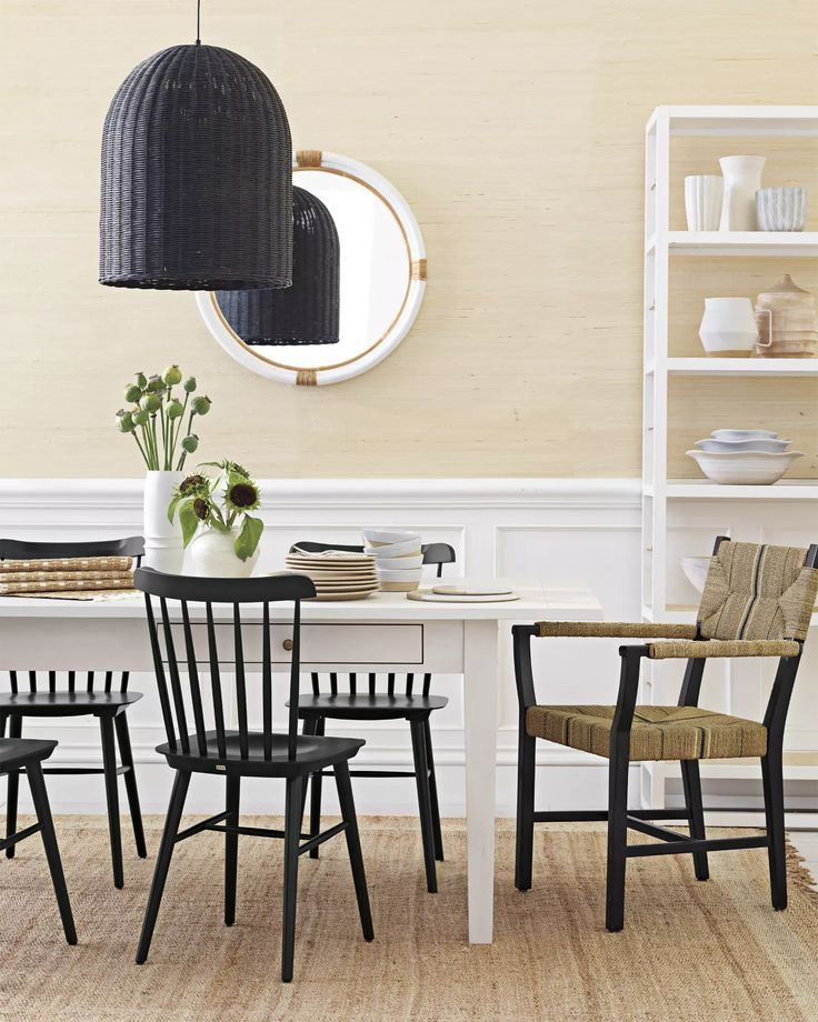 newbury dining table and tucker chairs image via serenaandlily - Tucker Dining Room Set
