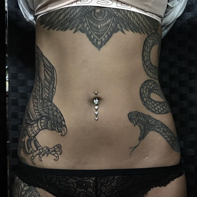 Front All By Me Artist Ishinevetattoo Stomach Tattoos