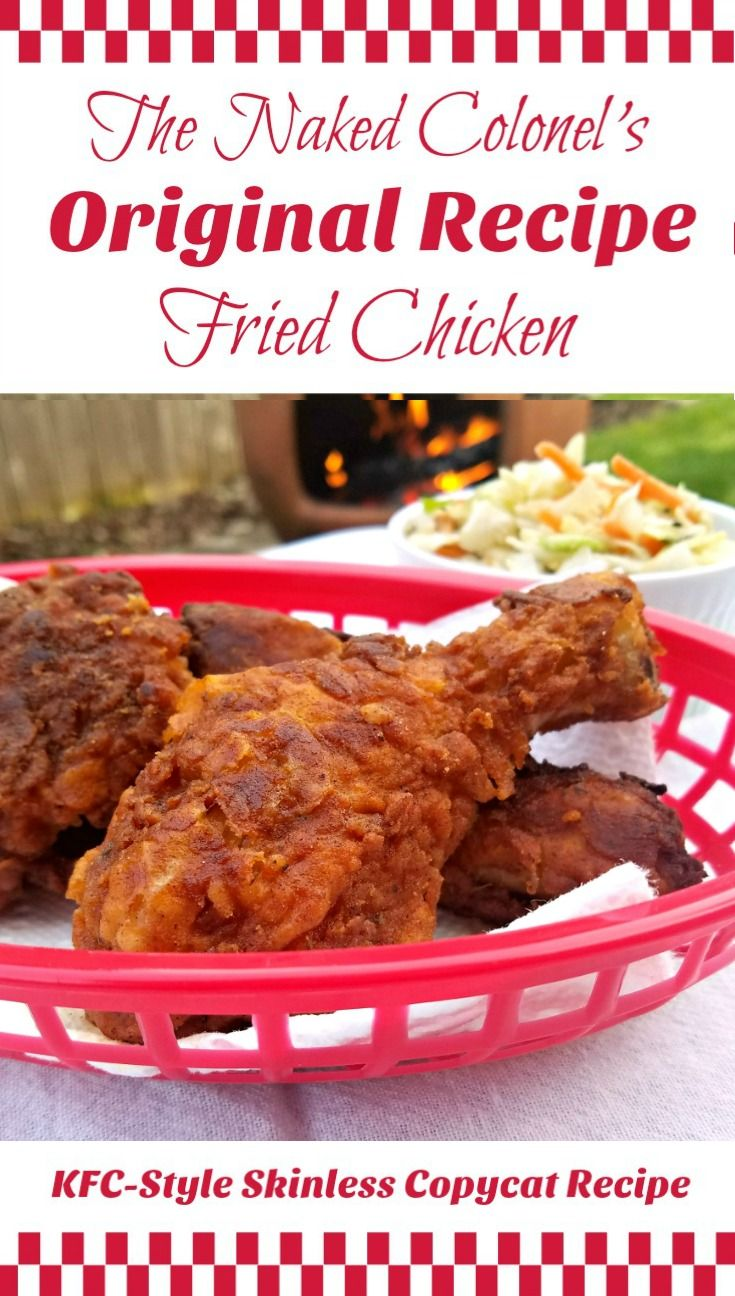 Buttermilk-soaked, cast-iron fried, and finally, oven-finished; this skinless homage toThe Colonel's KFCOriginal Recipe Fried Chicken ismoist, tender, and – I'm just going to say it – Amazing! | The Good Hearted Woman #friedchicken #recipe #chickenrecipes