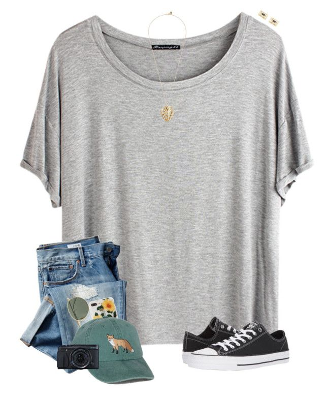 """My friend made this "" by lanegrahamm ❤ liked on Polyvore featuring Chicnova Fashion, Gap, Ray-Ban, Sonix, Converse, Fujifilm, The Sak and Kate Spade"