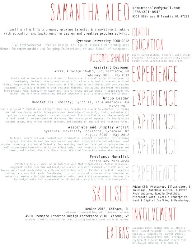 love how she creatively describes herself it makes the resume really unique and intriguing
