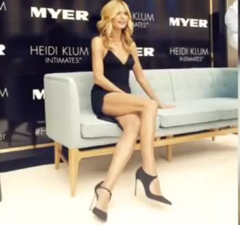 Heidi Klum: Sexy Outfit am GNTM 2015 Set