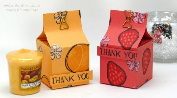 Stampin' Up! Demonstrator Pootles - Sam's Fresh Fruit Birthday Giveaway; Yankee candle votive