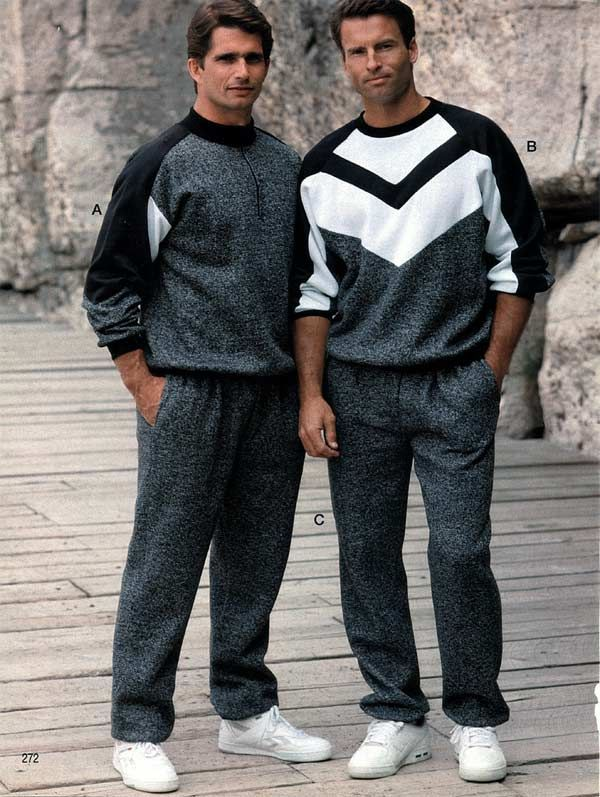 mens sportswear from a 1991 catalog 1990s fashion
