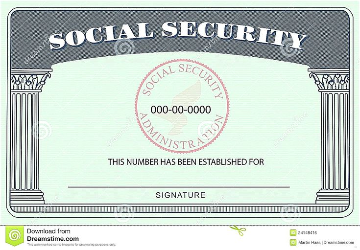 the stunning 20 blank social security card template