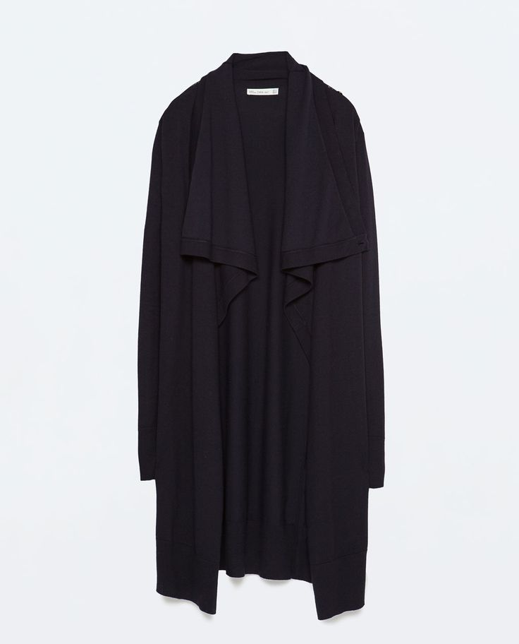 LONG KNITTED CARDIGAN from Zara