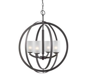 View the Woodbridge Lighting 14320-C10455 4 Light 1 Tier Pillar Candle Globe Chandelier with White Frosted Glass Shades from the Mirage Collection at LightingDirect.com.