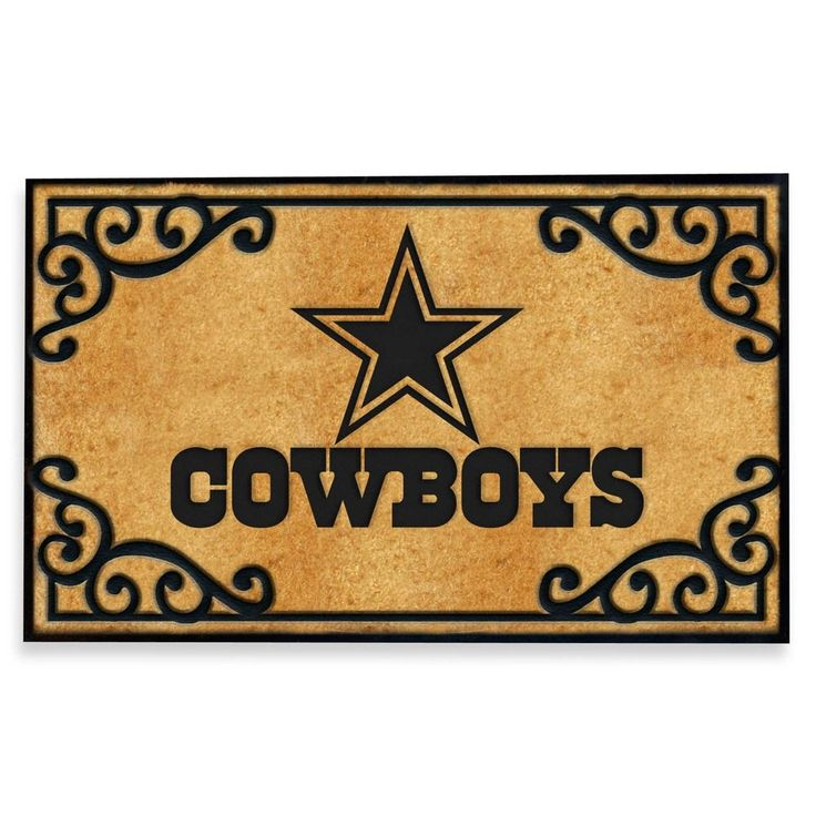 Dallas Cowboys Football NFL Team Logo Welcome Entry Outdoor Outside Door Mat Rug #Unbranded