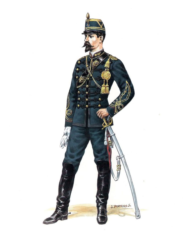 Chile; Artillery Officer, Parade Dress, 1878