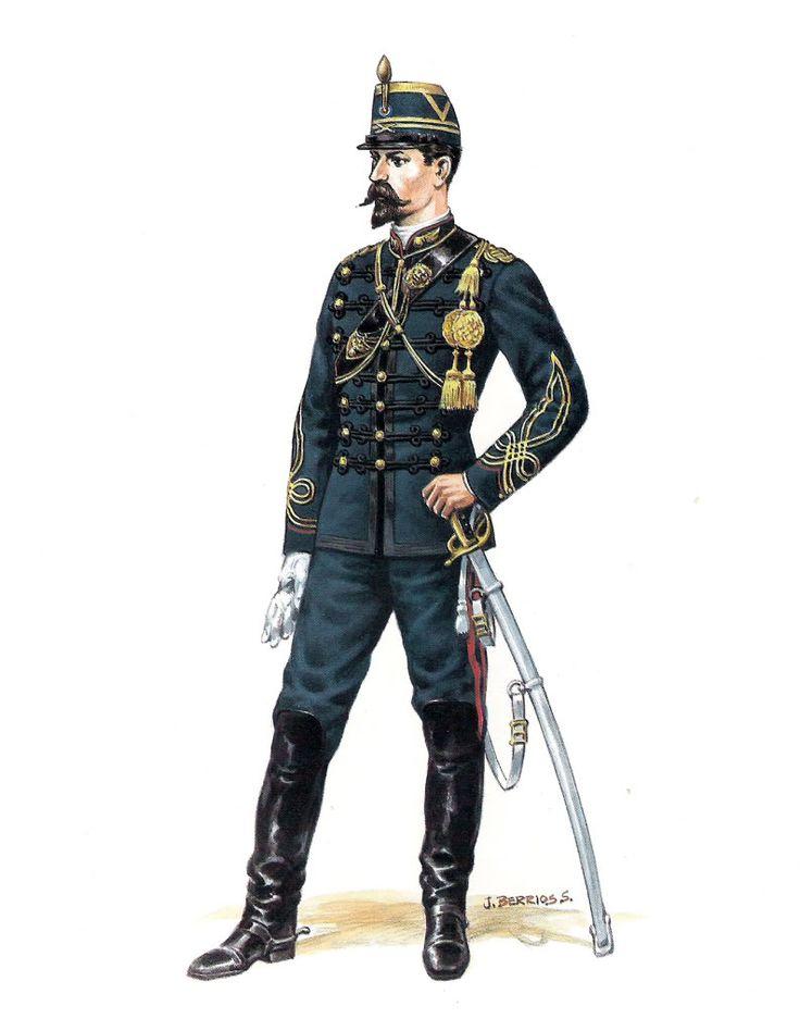Chile; Artillery Officer, Parade Dress, 1878