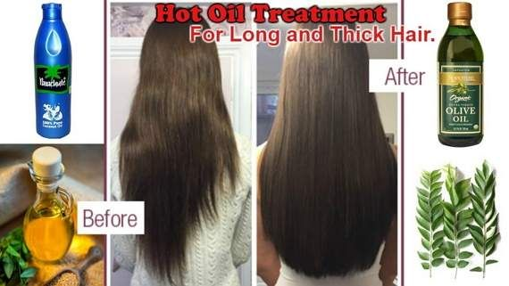 Grow Thick & Long Hair with Hot Oil Treatment  In a pan add 3 tbsp coconut oil, I use simple parachute coconut oil Add 1 tbsp olive oil Add 1 tbsp mustard oil Add 5-6 curry leaves Put in on low flame for few minutes  Let it cool a little bit and then apply it on you scalp Massage your scalp for 10 -15 minutes Leave it for at least 2 hour and then......