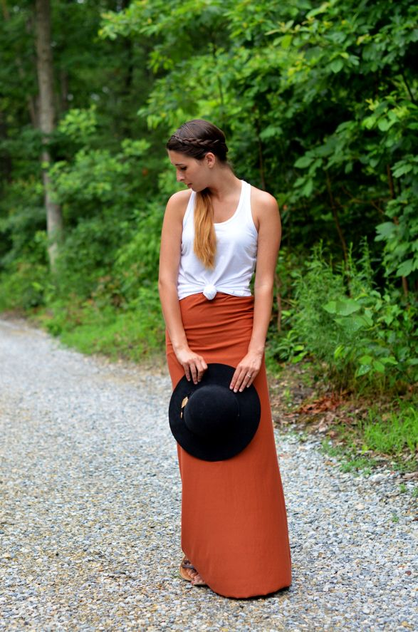 Fine and Feathered Maxi Skirt DIY