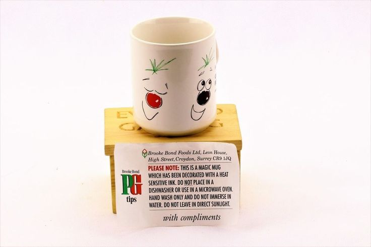 COLLECTABLE PG TIPS COMIC RELIEF MUG WITH HEAT SENSITIVE INK ON OUTSIDE CHARITY