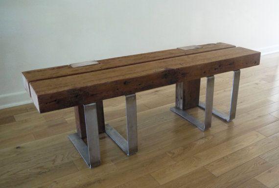Panca in legno recuperato. Panca rustica. Panca in di TicinoDesign