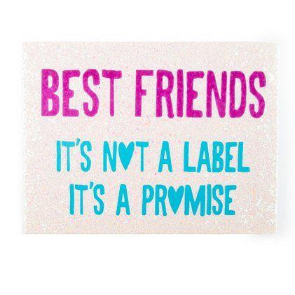 Best Friends Promise Glitter Wall Canvas