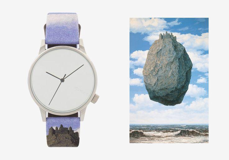Komono x René Magritte — hodinky Winston — pánské, dámské — surrealistické motivy — The Castle of the Pyrenees — Hrad v Pyrenejích #watches #komono #surrealism #magrite #renemagritte #surrealismus #hodinky #winston