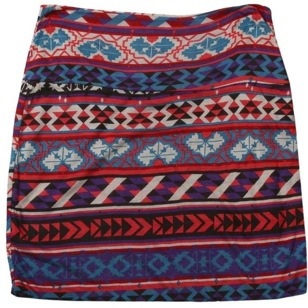Aztec Print Knit Mini Skirt-SHORTS&SKIRTS-Styles for Less Clothes... ($13) ❤ liked on Polyvore featuring skirts, mini skirts, bottoms, saias, faldas, short skirts, red skirt, aztec skirt, red mini skirt and knit skirt