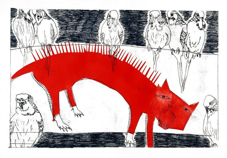 """Red cat"" by Monika petersen"