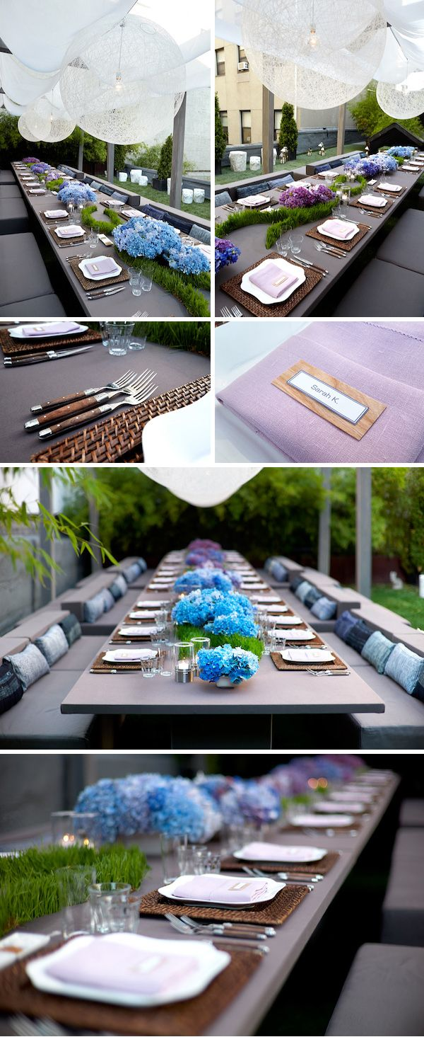 A Summer Rooftop Soiree in NYC, Design by Frank Alexander