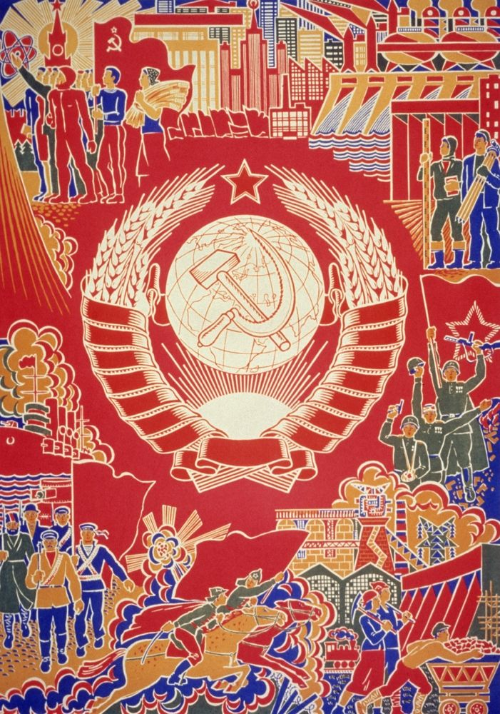 "35 Communist Propaganda Posters Illustrate The Art And Ideology Of Another Time -- Propaganda poster of the 70's by Boris Parmeev. ""We grow under the sun of our country."""