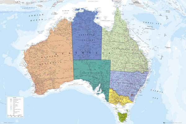 39 best maps of the world and more images on pinterest sports wall map of australia poster gb eye ltd publicscrutiny Choice Image