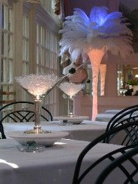 Centerpieces - Martini glass centerpieces -