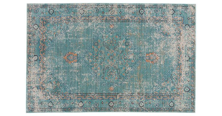 Soft underfoot, this traditional rug shows off stunning hints of blue and a pronounced abrash, which gives it the look of a prized antique. We recommend a rug pad to extend the life of the rug and...