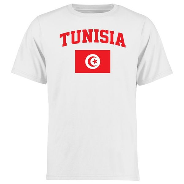 Tunisia Flag T-Shirt - White - $21.99