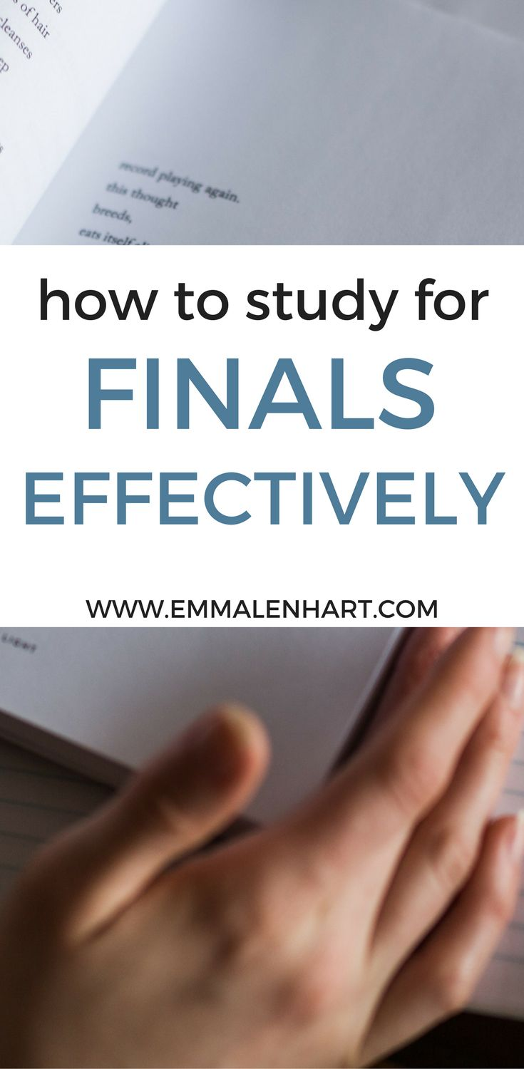 Learn how to study effectively for your final exams in college with helpful study tips. Knowing how to study well will prep you for finals week success!
