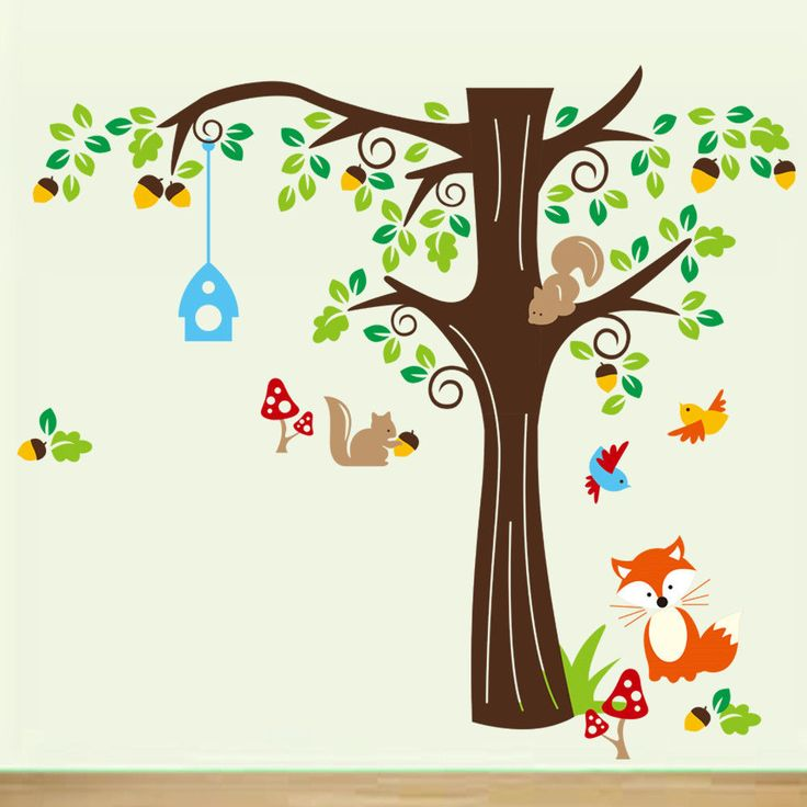 Fox & Friends Wall Decal  Perfect for any children's room.  Find us on Facebook Precious Little Angels