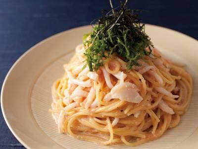いかたらこスパゲッティ