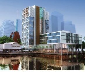 Just six months after plans to build an 11-storey luxury hotel alongside Elizabeth Quay were rejected by the City of Perth because it was deemed too tall and too bulky, consideration is now being given to an 18-storey hotel on part of the same site.