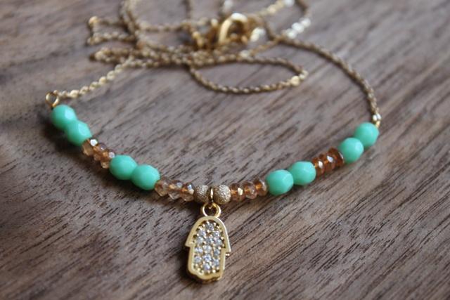 Hand of Hasma Necklace #cottonandrust