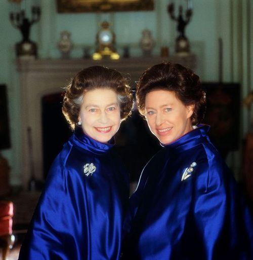 Queen Elizabeth and Princess Margaret.