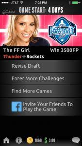 The Rivalry Games Fantasy Football Girl Tournament. #WIN 3,500 Fantasy Points! #FantasyBasketball #Rockets #Thunder #DFS @Liz Loza