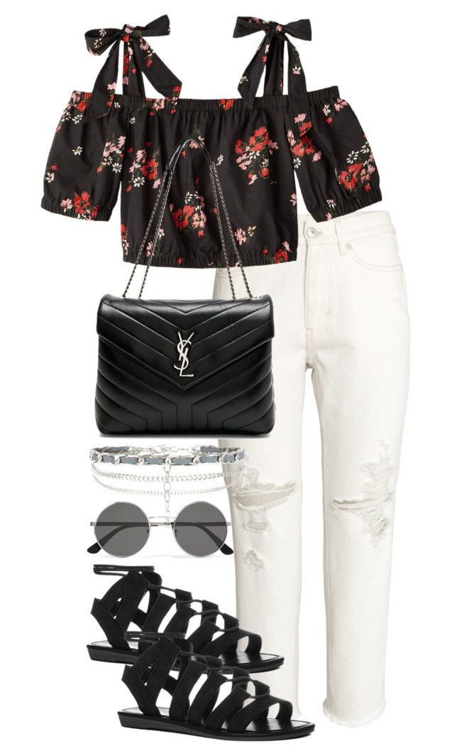 """Untitled #4192"" by theeuropeancloset on Polyvore featuring H&M, Yves Saint Laurent and New Look"