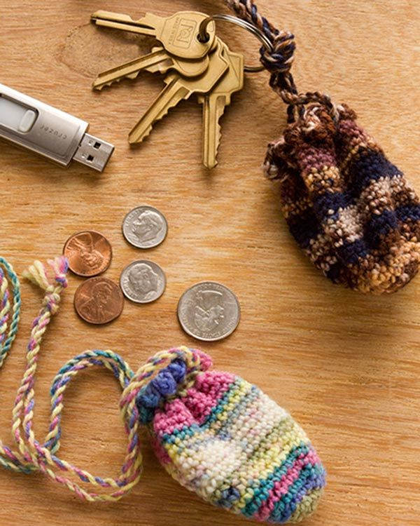 Best Free Crochet » Free Crochet Pattern Key Ring Pouch From RedHeart.com