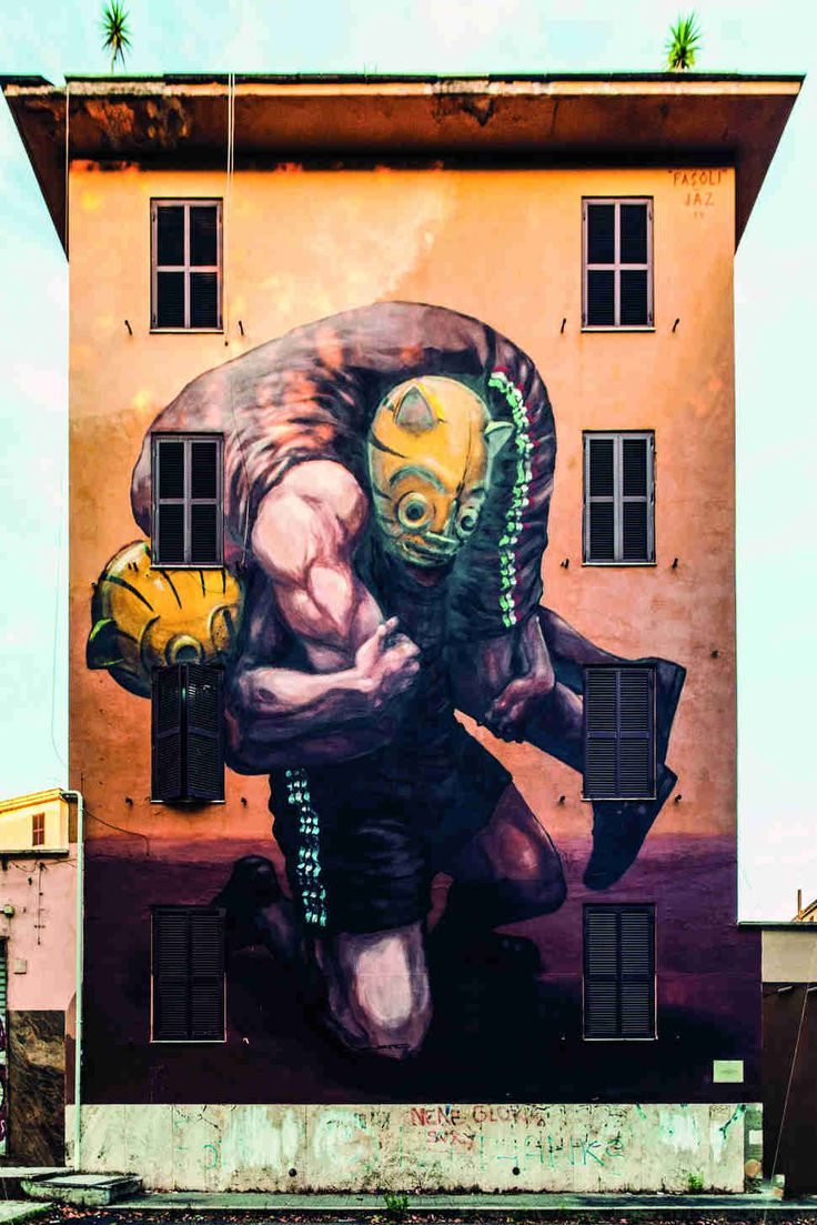 Art color rijeka - Jaz Franco Fasoli Rome Street Art