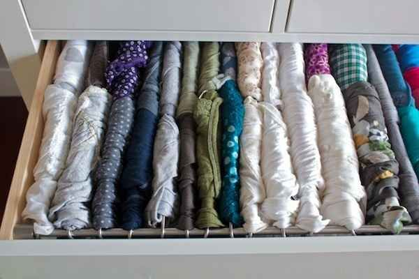 Turn your t-shirt drawer into a filing system so you can see every damn shirt in there.