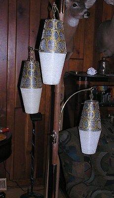 Vintage Retro Mid Century Floor Ceiling Tension Pole Lamp