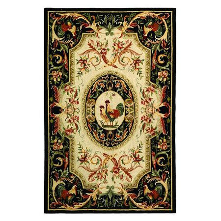 Georgian-style floral diamonds flow across this hand-hooked wool rug, a sophisticated addition to your living room or foyer.  Produc...