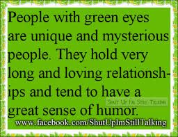 green eyed people facts - Google Search// look at my green eyes!