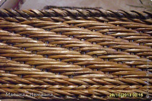 А плетение - плетется одной трубочкой, только не 2 за 1, а 3 за 1. Количество стоячков кратное трём, плюс или минус один. Плести такой рисунок я начинаю с угла, просто подставив одну трубочку к стоячку.