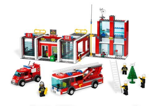 LEGO 7208 City System Fire Station. Check out our 4.76% promotion off retail price!  Enjoy a further $10 discount if you self collect your purchase! Delivery within Singapore. LEGO® is a trademark of The LEGO Group of companies. Chucklingbaby.com is independent of The LEGO Group. All the product images are copyright of The LEGO Group.