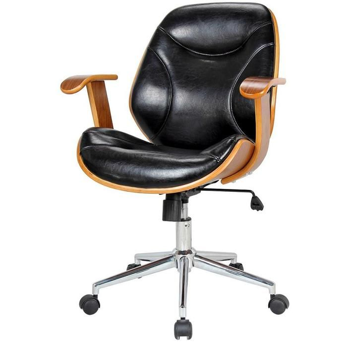 Costa Office Chair Black Walnut 270 At Tampa Bay Furnishings
