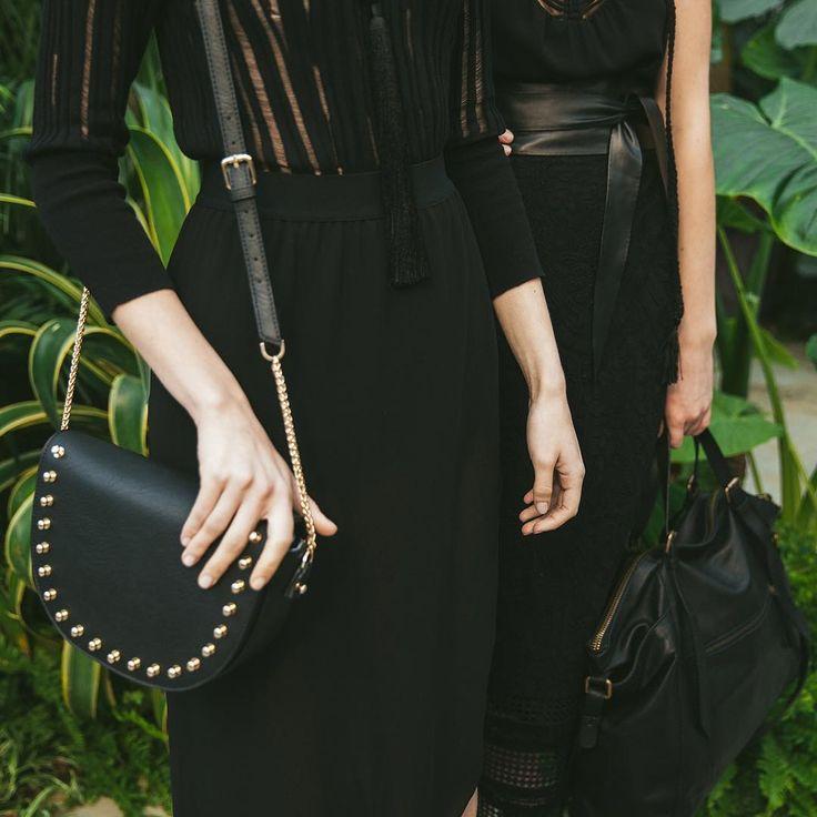 #SS2017 #Sisley #Sisleyfashion #Sisleylook #woman #rock #chic #black #collection #fashion #backstage